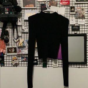 ⚫️ Black Ribbed Long Sleeve Turtleneck